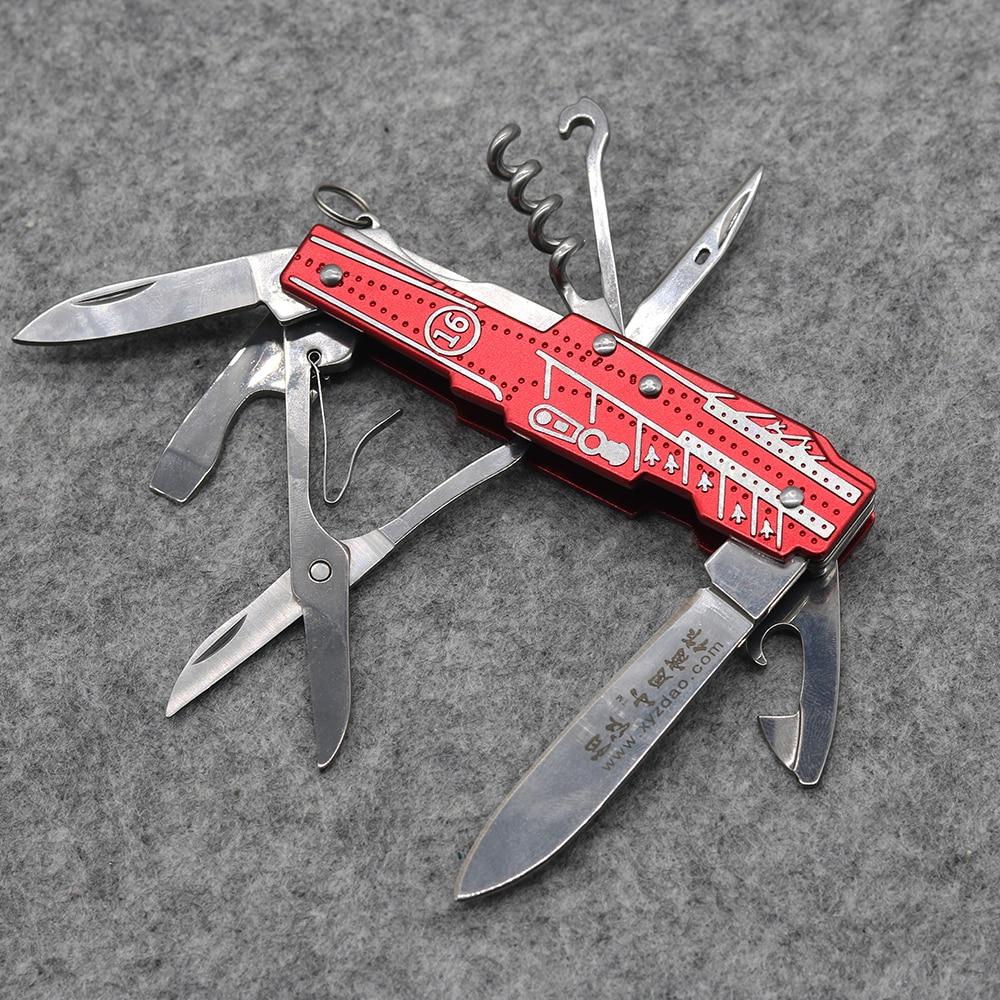 Nový! Červený multifunkční skládací nůž z nerezové oceli 9 - Ruční nářadí - Fotografie 2