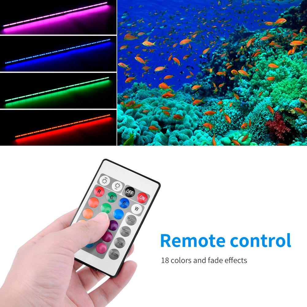 Lumière sous-marine de la lumière 76cm 91cm d'aquarium de bulle d'air de LED avec à télécommande pour l'aquarium 2019ing