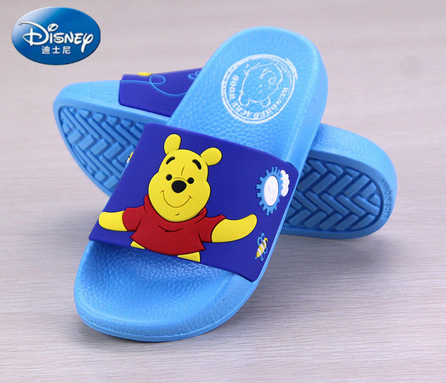 bc6cf0a1481f Disney Shoes Baby Boys Girls Slippers Winnie Bear Home Slippers Kids  Barefoot Inddor Summer Beach Showering children s shoes