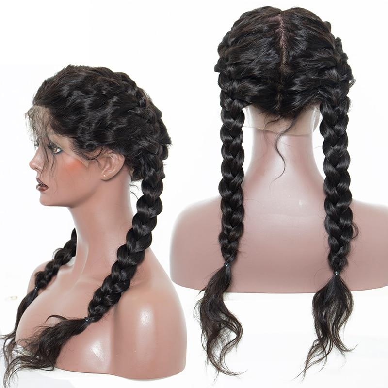 180% Tæthed Fuldt blonde Human Hair Parykker For Kvinder Brazilian - Menneskehår (sort) - Foto 5