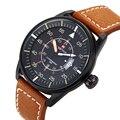 Top Luxury Brand NAVIFORCE Cuero Impermeable Del Reloj de Los Hombres Relojes Deportivos Militar Hombres de Cuarzo Analógico Reloj de Pulsera relogio masculino