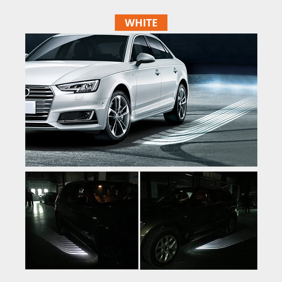 Partol 2Pcs Angel Wings Car Welcome Light Shadow Light Projector Car LED Door Warning Light Lamp for Audi BMW Toyota Volkswagen