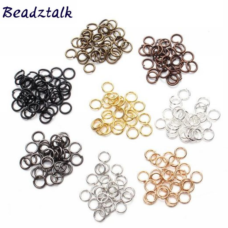 200 pcs/bag, Metal Jump Rings Split Round Ring Findings Connector 4 mm 6 mm 8 mm 10 mm 12 mm DIY Jewelry Making Craft 5 Colors metal o rings o ring purse ring connector anti bronze 12 mm 1 2 inch 40pcs u123