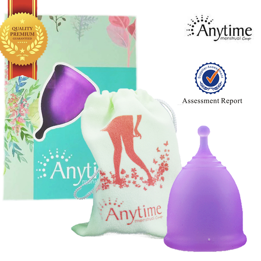 Anytime Brand Wholesale Feminine Hygiene Product Women Menstruation Lady Reusable Medical Grade Silicone Menstrual Cup