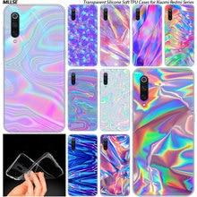 Rainbow iridescent Silicone Case for Xiaomi Pocopho