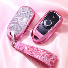 Luxury Diamond Protection Car Key Case Cover for OPEL Astra Buick ENCORE ENVISION NEW LACROSSE Rings Protect Shell Styling