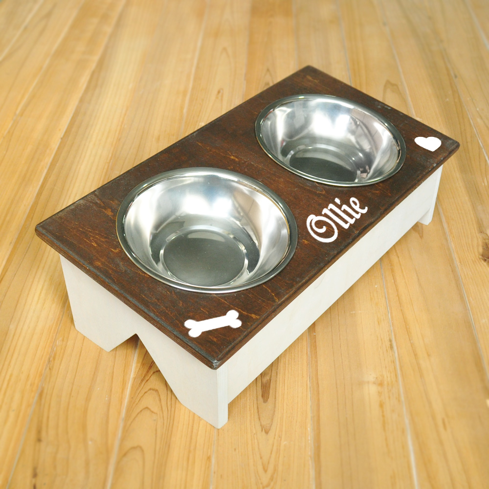 Small Crop Of Dog Bowl Stand