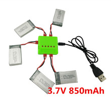 BLL New 5PCS 3.7V 850mah lithium battery and charger SYMA X5HW X5HC Quadcopter accessories remote control aircraft parts