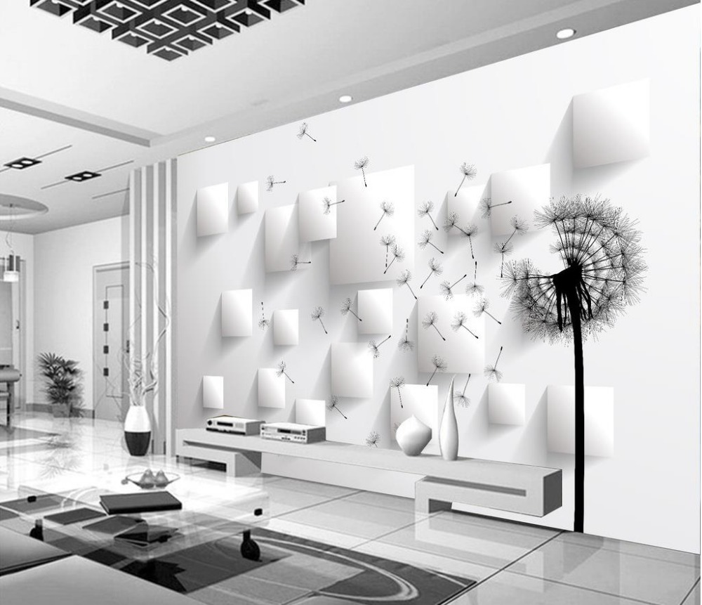 Home Decoration wall mural photo wallpaper Dandelion wallpapers for living room 3d nature wallpapers