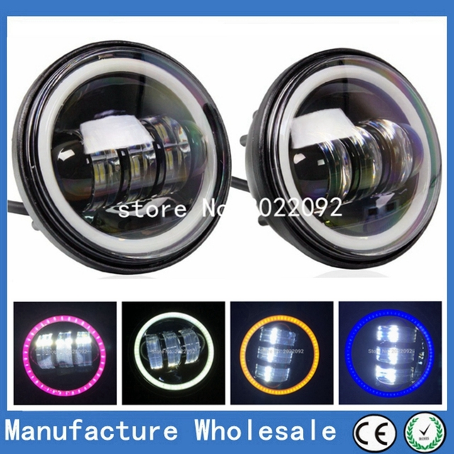 """4-1/2"""" 4.5inch LED Passing Light for Harley Davidson Fog Lamps Auxiliary Light Daymaker Projector Spot Driving Lamp Headlight"""