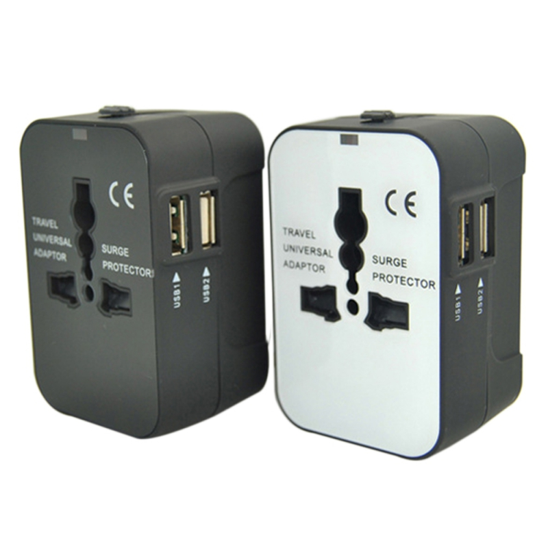 Universal Power Socket Adapter Multi-function USB Plug Converter Socket With USB Travel Adapter Wall Charger For USA EU UK