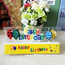 Balloon Scented Cake Happy-Birthday-Candles Gifts Love-Candles Home-Decor Creative New