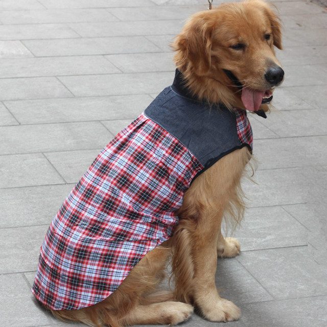 fc4e405f7be4 Big Dog Shirt Summer Large Dog Clothes Labrador Golden Retriever Samoyed  alaska Pet Clothing Coat Outfit