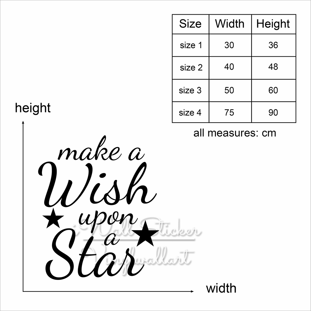 Star Quote Wall Sticker Baby Nursery Star Quotes Wall Decal Inspirational Kids Room Wall Quotes Cut Vinyl Children Stickers Q235 in Wall Stickers from Home Garden