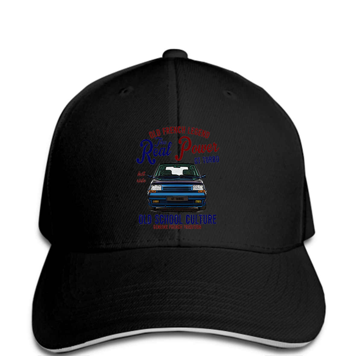 bfb9232bd Baseball cap Vintage French Car Renault 5 Gt Turbo Real Power Hat Mens Casual  Hat
