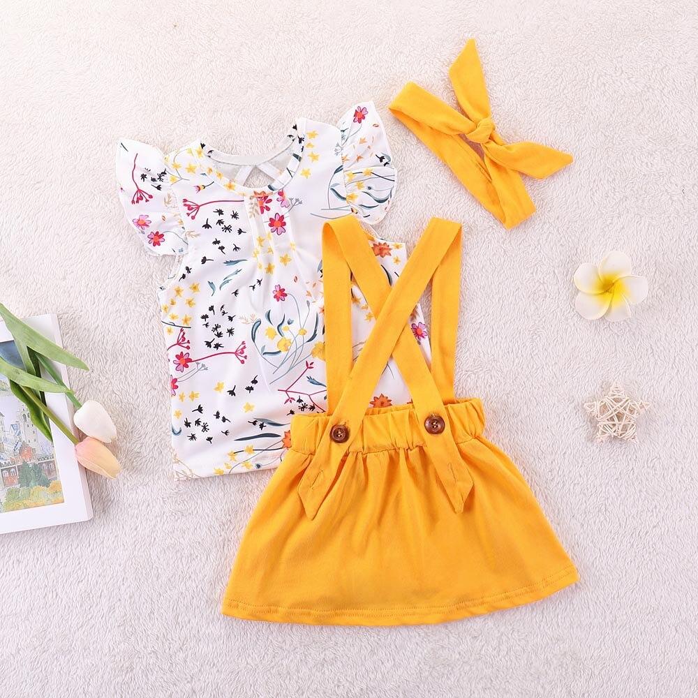 vetement fille cotton floral cute telotuny enfant strap pure skirt fresh hair ju band clothes