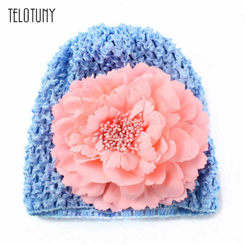 TELOTUNY Newborn Baby Flower Cotton Hat Beanie Toddler Girls Photography Props Pretty and cute style knitting  S3FEB13