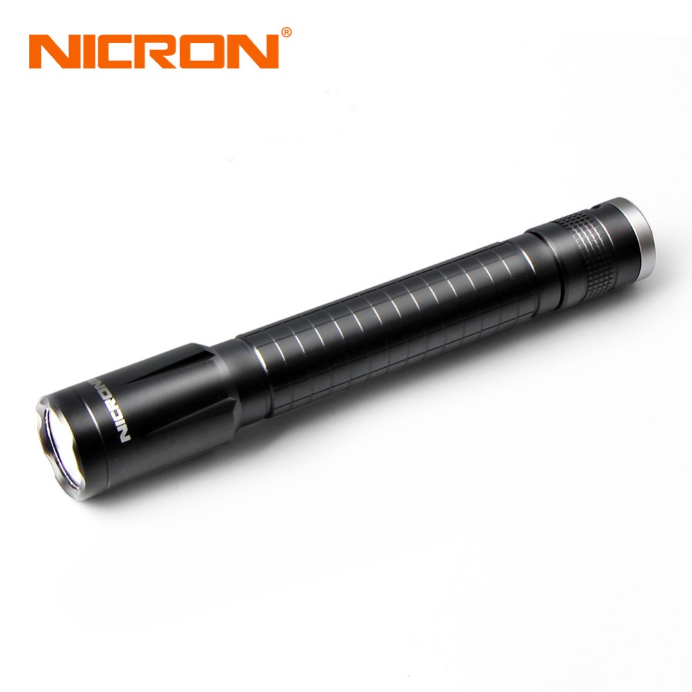 NICRON 3W 2xAA High Brightness Flashlight 100LM Waterproof 100M Beam Distance For Household Outdoor Lighting Torch LED N4