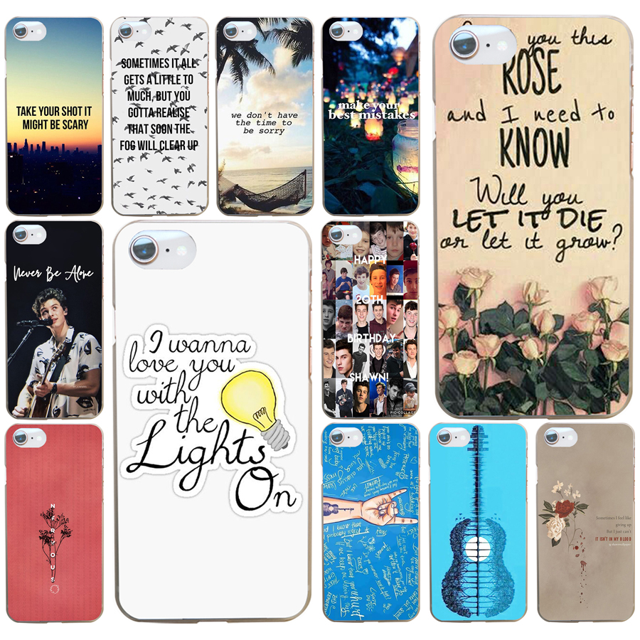 273AW Shawn Mendes Magcon tattoo music quotes Hard Transparent Cover Case for iphone 4 4s 5 5c 5s se 6 6s 8 plus 7 7 Plus X