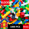 1000 Pcs Building Bricks Set City DIY Creative Brick Toys For Child Educational Building Block Bulk Bricks Compatible With Lego