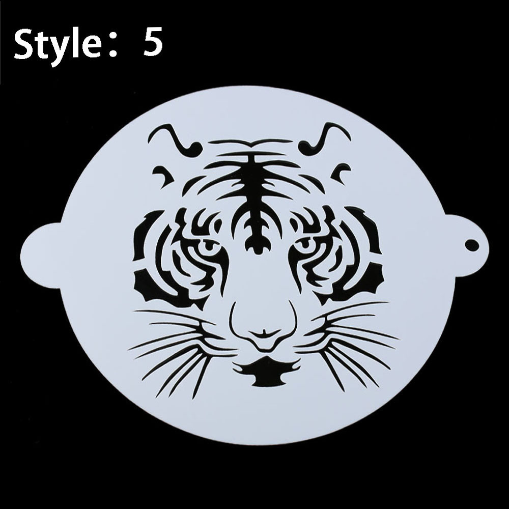 Tiger Pattern Cake Stencil Embossing Molds Spraying Template Wedding  Plastic DIY Baking Tools School Stationery Office Supplies