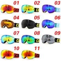 Copozzแว่นตาสกีกับกรณีและเหลืองเลนส์UV400ป้องกันหมอกทรงกลมสกีหน้ากากแว่นตาเล่นสกีผู้ชายผู้หญิ...