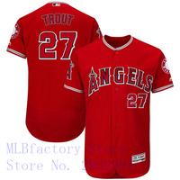 Men S Los Angeles Angels Mike Trout Majestic Alternate Scarlet Flex Base Collection Player Jersey