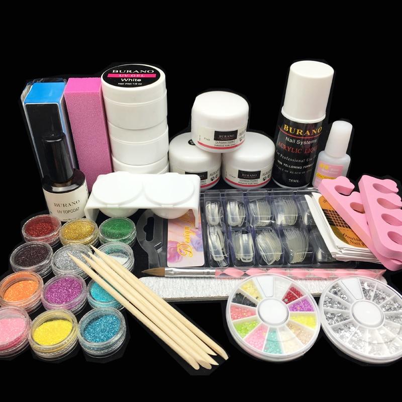 Acrylic Nail Kit Acrylic Nail Powder Liquid Glitter Brush