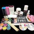 Acrylic nail kit Acrylic Nail Powder Liquid Glitter Brush Nail Tips Buffer Sticker File UV Gel Kit Nail Tools set power 2907