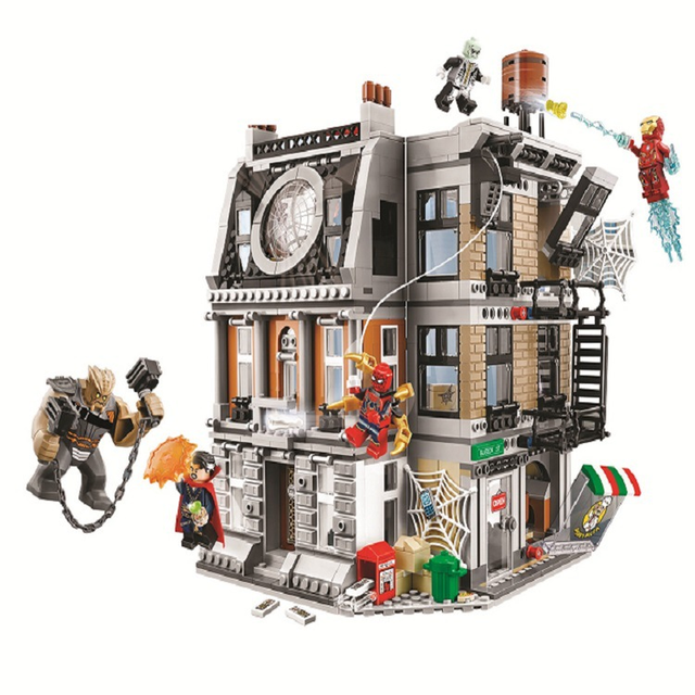 10840 Infinito Guerra Sanctum Sanctorum Showdown Marvel Avengers Iron man Spidermans Brinquedos de Blocos de Construção Compatíveis