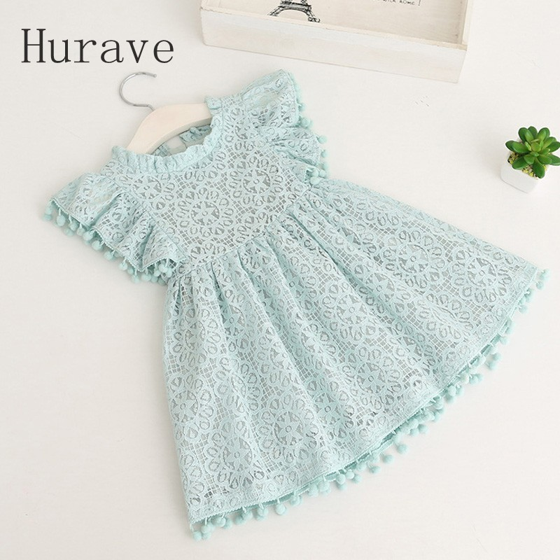 Hurave-2017-Summer-girls-dress-lace-dress-for-kids-clothes-fashion-tassel-dresses-princess-children-summer-vestidos-3
