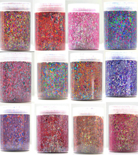 1.76 oz Chunky Glitter Mix - Color: Confetti Party- Perfect for Nail Art Balloons Rainbow Resin Loose