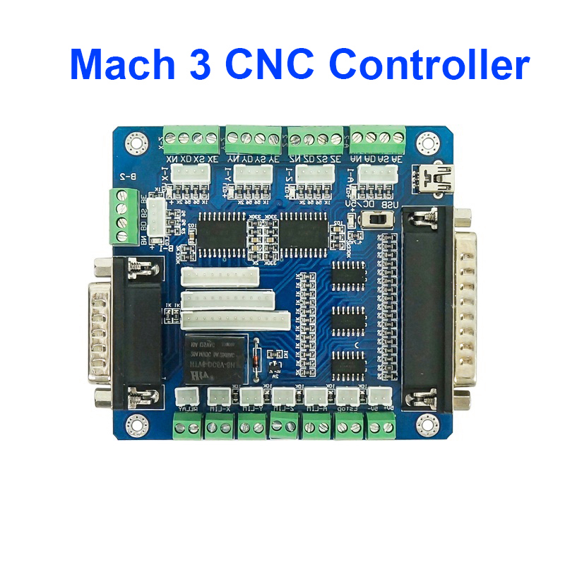 5 Axis Mach3 CNC Controller Board For Machine Stepper Motor With USB Interface