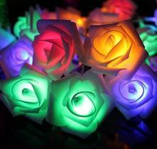 DZ T 3 м 20 светодиодный розами для свадебных торжеств светодиодная гирлянда на батарейке свет рождественских событий лампочки для праздника Красочные Праздничные Светодиодная лампа наружного освещения