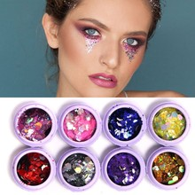 New Sequins Glitter Eye Face Hair Nail Body Shadow 8 Colors Beauty Shimmer  Shining Dazzling Festival 5a26f1024d62
