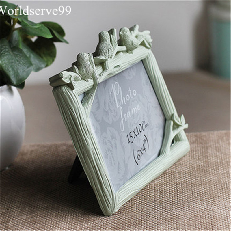 Cute Birds Resin Wedding Photo Frames Home Decor Bridal Baby Picture ...