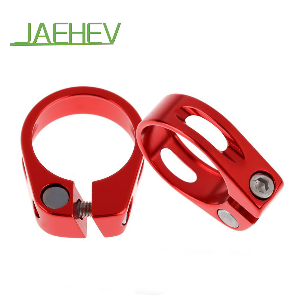 купить 31.8 / 34.9mm 20g Aluminium Alloy MTB Road Bicycle Quick Release Seatpost Clamp Bike Cycling Seat Post Tube Clip Bike Parts недорого