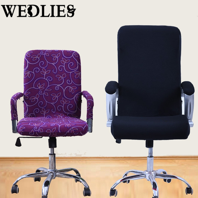 S M L Spandex Office Chair Covers Slipcover Armrest Cover Computer Seat Stool