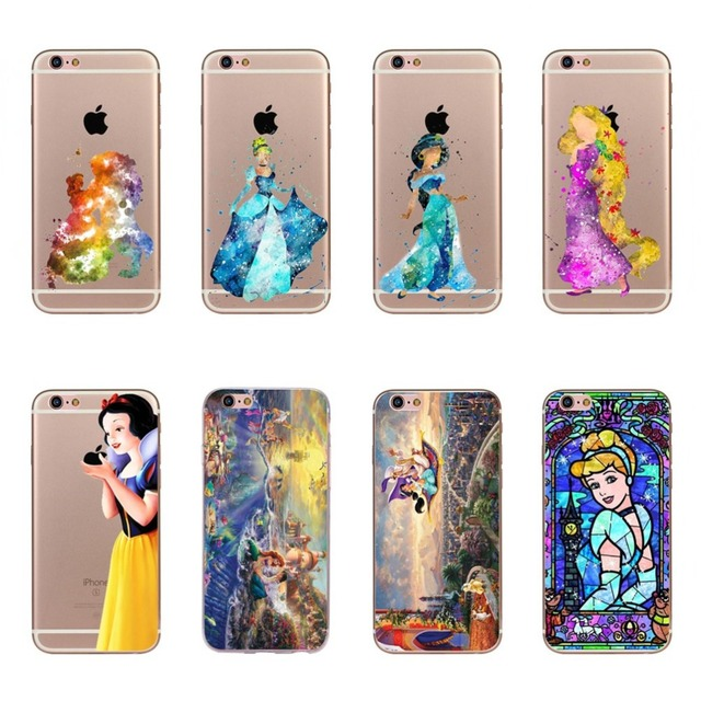 online store a4ff3 31070 US $1.01 19% OFF|Phone Cases For Apple iPhone 5 5s SE Soft Silicone Case  Cover Cute Rapunzel White Snow Princess Mermaid Case Fundas Capa Coque-in  ...
