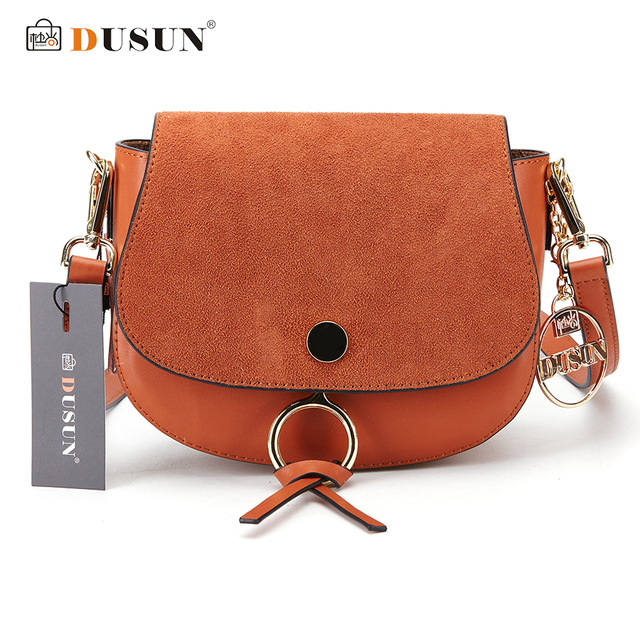 DUSUN Women Messenger Bag Fashion Designer Handbag Faux Suede Leather Shoulder Bags High Quality Vintage Women Crossbody Bags