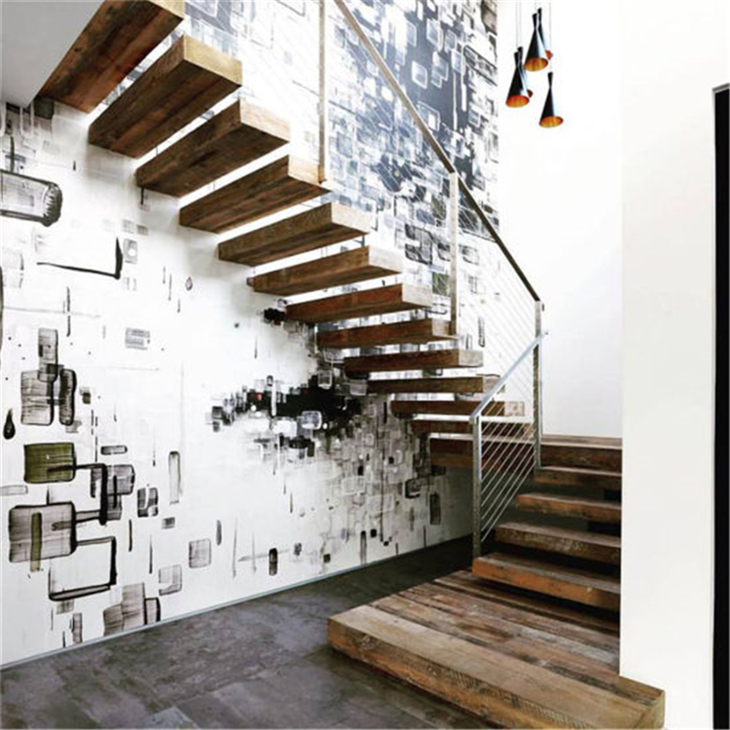 China Foshan Factory Modern Indoor Floating Staircase Design   Modern Living Room With Stairs   Stylish   House   Mansion   Dining Room   Sleek Modern