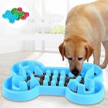 1PCS Pet Dog Bowl Healthy Soft Rubber Slow Food Feeder Anti Choke Travel For Cat Feeding