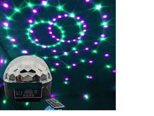 RA-T-04DMX512 colorful LED crystal magic ball light with remote controllersound controlledKTVbar