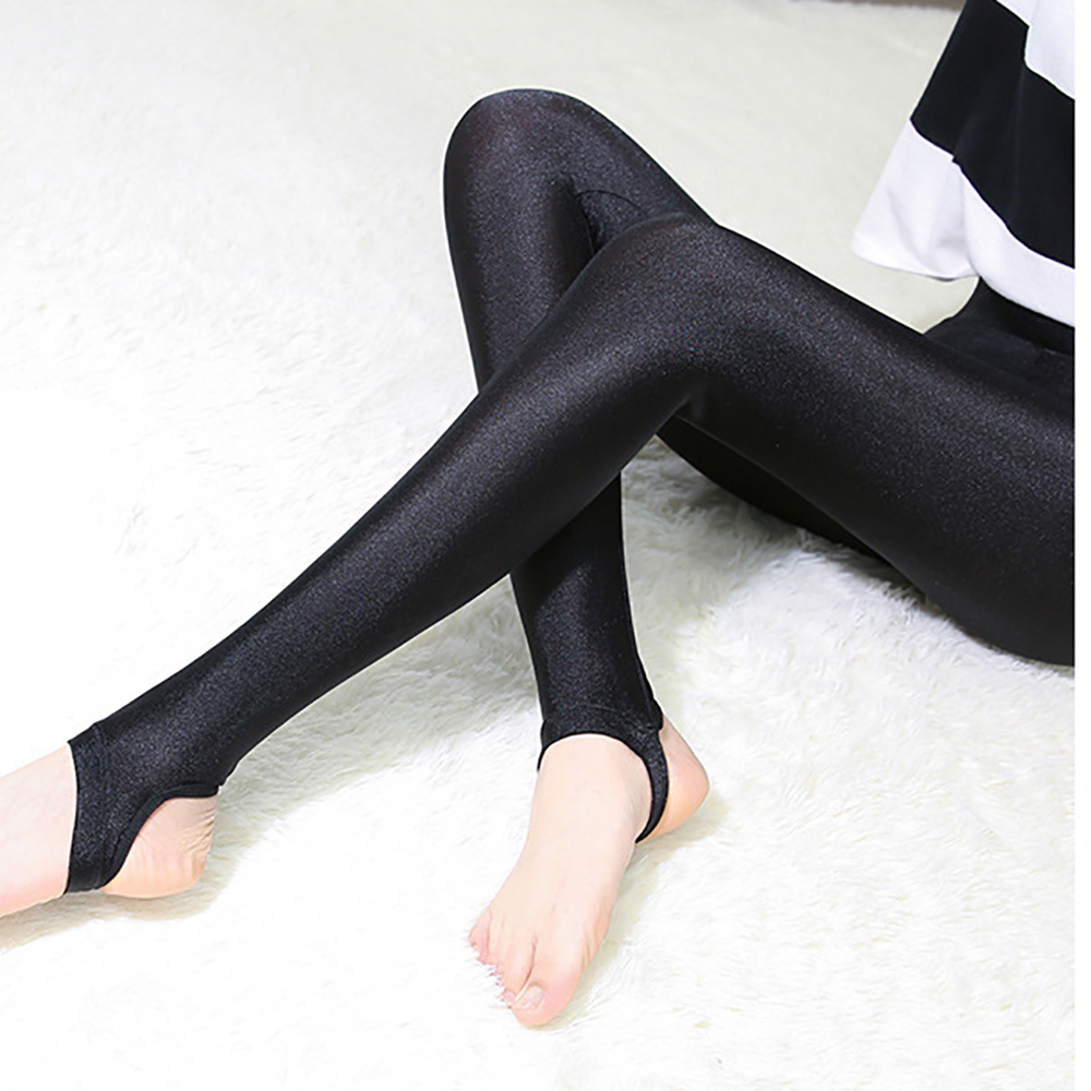 Plus Size Women Shiny Legging Shaping Pants Large Size Gloss Workout Legging Elastic Sexy Leggings Bodycon Women Clothes