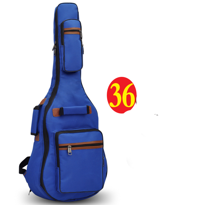 Professional protable 34 36 acoustic wood bass guitar case soft gig bag backpack cover concerts bolsa