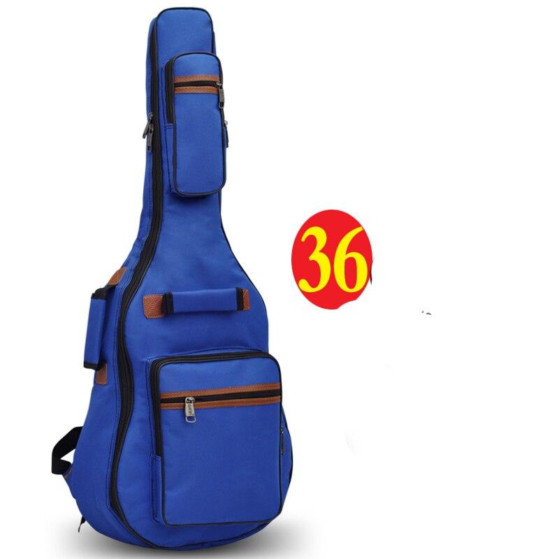 Professional protable 34 36 acoustic wood bass guitar case soft gig bag backpack cover concerts bolsa