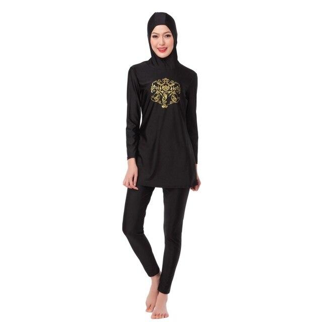 Pakaian renang muslim Islamic Swimsuit Swimwear Islamic Wanita jilbab penuh  cakupan kolam beachwear ebe2742953