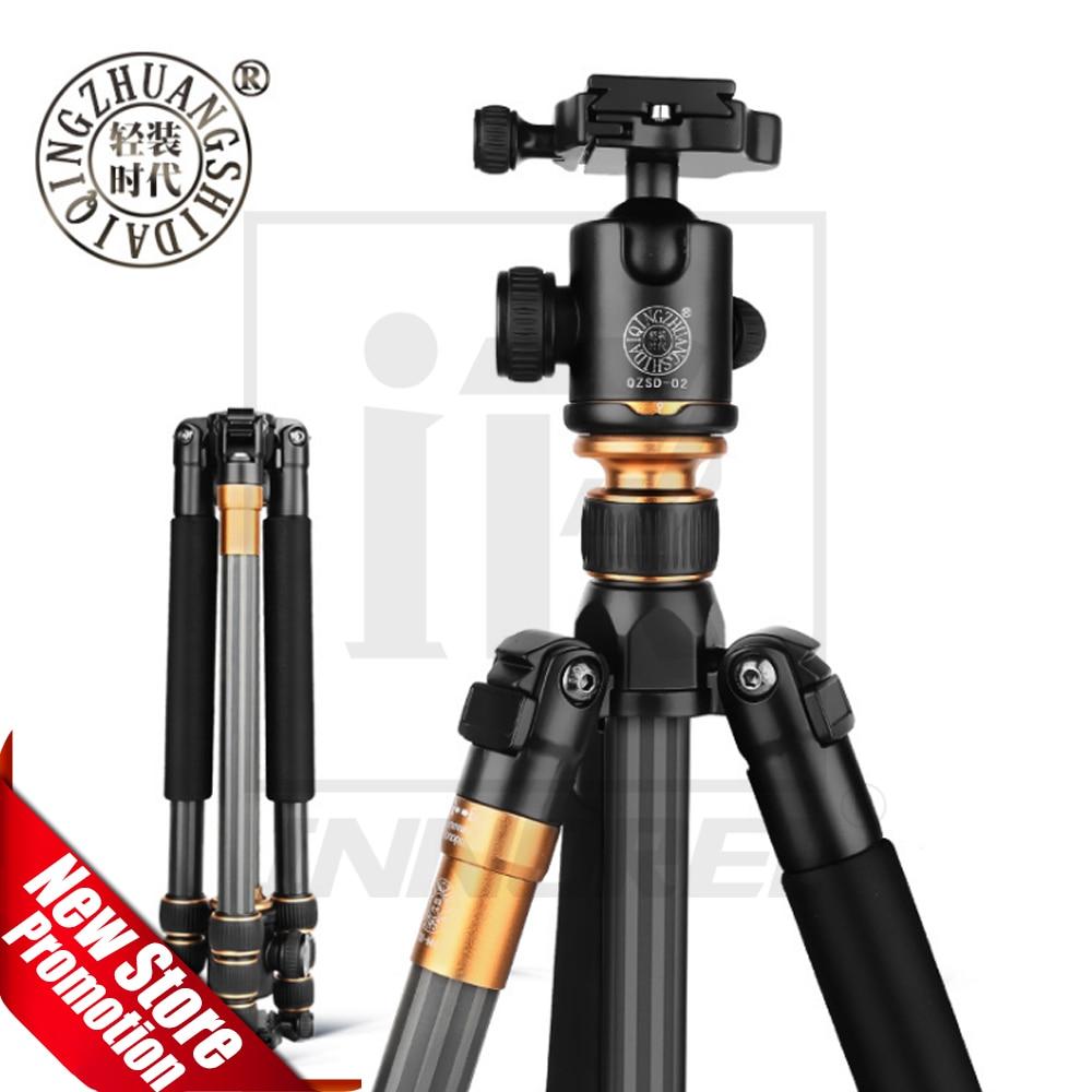 QZSD Beike Q999C Carbon Faser Professionelle Stativ Monopod Kugelkopf Changeabel Für DSLR Kamera 1400g Nettogewicht 159 cm max höhe