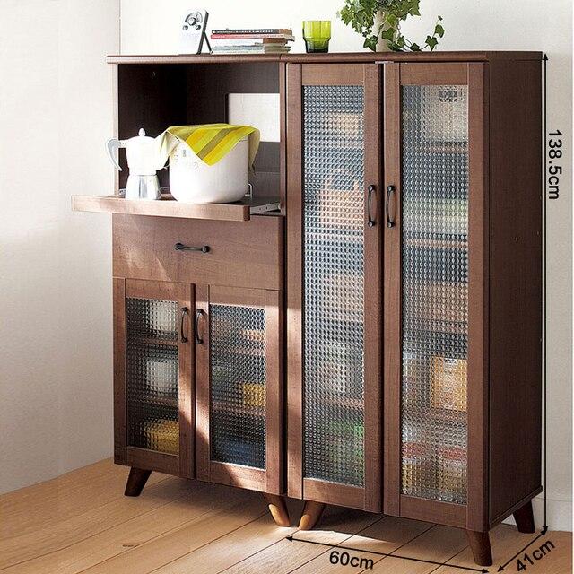 Home Yat Kitchen Cupboards Storage Cabinets Cabinet Cupboard Shelf  Microwave Oven Rack Simple Vertical Wood Lockers