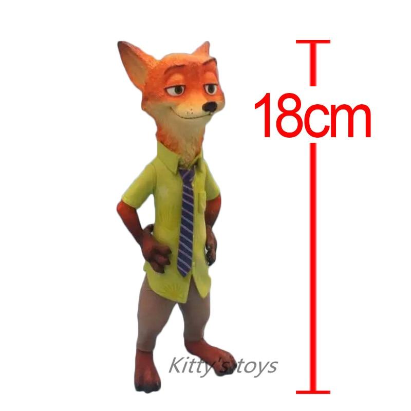 ФОТО Free shipping 18cm New Movie Zootopia Cartoon Utopia Nick Fox Polystone Action Figure Movie Models Nick Fox With Retail Box
